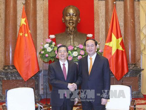 Chủ tịch nước Trần Đại Quang tiếp Bộ trưởng Bộ Công an Trung Quốc