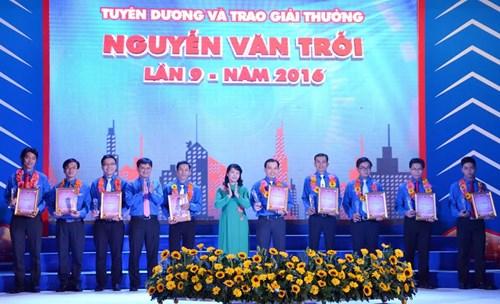 Trao giải thưởng Nguyễn Văn Trỗi cho 36 thanh niên công nhân tiêu biểu