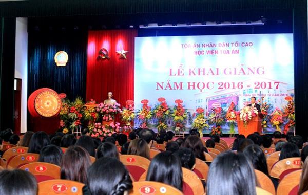 Chủ tịch nước Trần Đại Quang: Phấn đấu xây dựng Học viện Tòa án trở thành TT đào tạo chất lượng cao