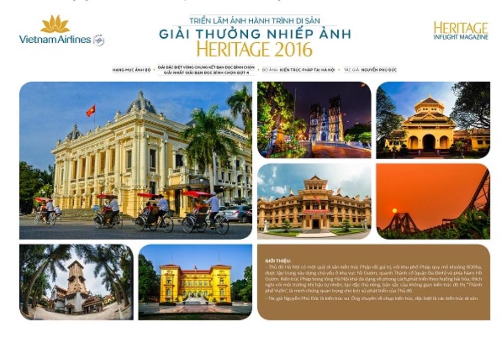 Triển lãm và trao giải thưởng nhiếp ảnh Heritage - Hành trình di sản 2016