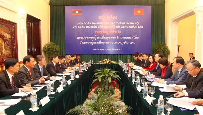 Nâng cao hiệu quả hợp tác giữa thủ đô hai nước Việt Nam, Lào