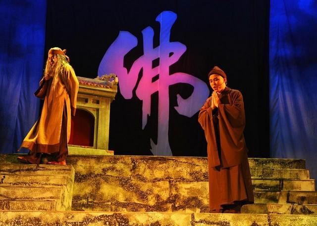 บทละครก่ายเลืองเกี่ยวกับสมเด็จพระสังฆราชเจิ่น เญิน ตง