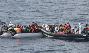 Irish navy rescues hundreds of migrants in Mediterranean Sea
