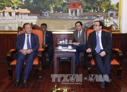 ผลักดันความร่วมมือระหว่างกรุงฮานอย ประเทศเวียดนามกับกรุงพนมเปญ ประเทศกัมพูชา