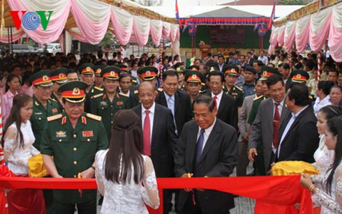 เสร็จสิ้นการบูรณะปฏิสังขรณ์อนุสรณ์สถานมิตรภาพเวียดนาม-กัมพูชาในจังหวัดตาแก้ว