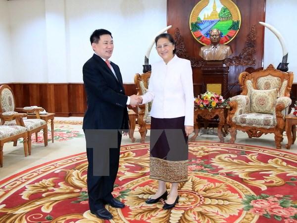 ผู้นำรัฐสภาและรัฐบาลลาวชื่นชมความช่วยเหลือของหน่วยงานตรวจเงินแผ่นดินแห่งรัฐเวียดนาม