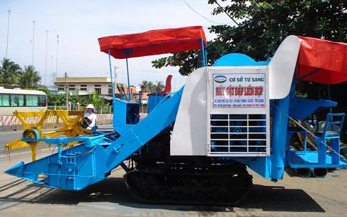 Tu Sang and his combine harvesters