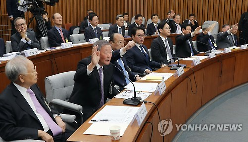 Korean corporate chief questioned over Park's scandal