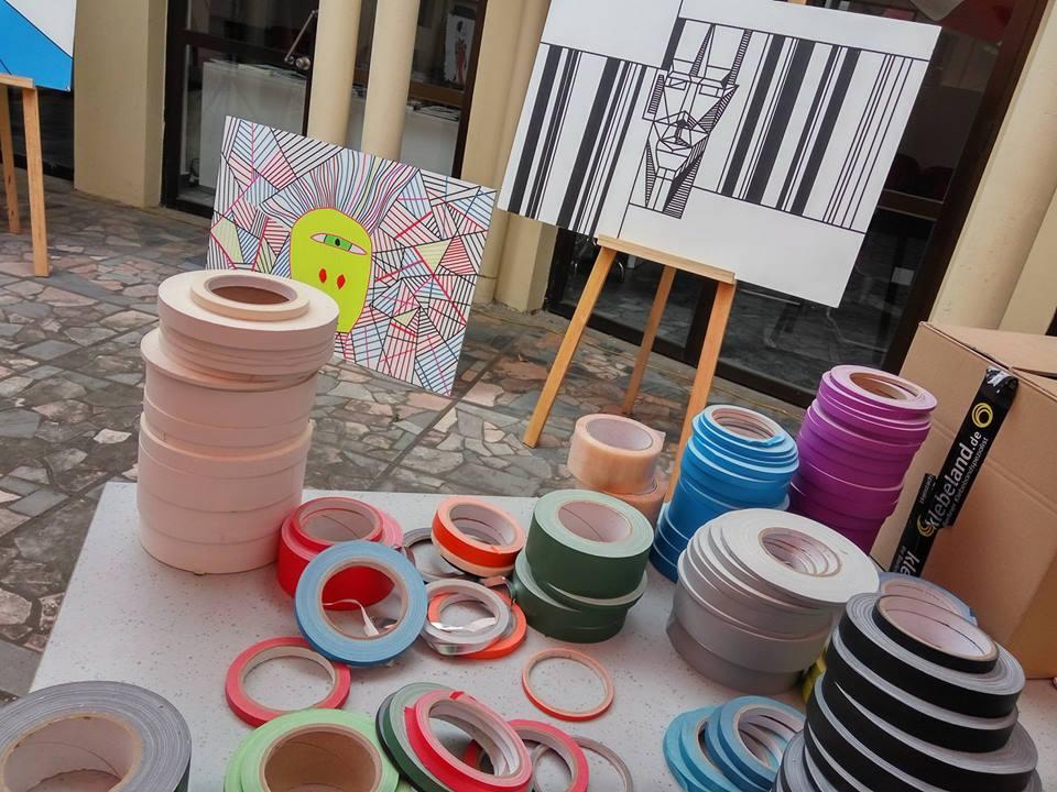 Bunte Kunst: Tape Art aus Berlin bei der Deutschen Botschaft