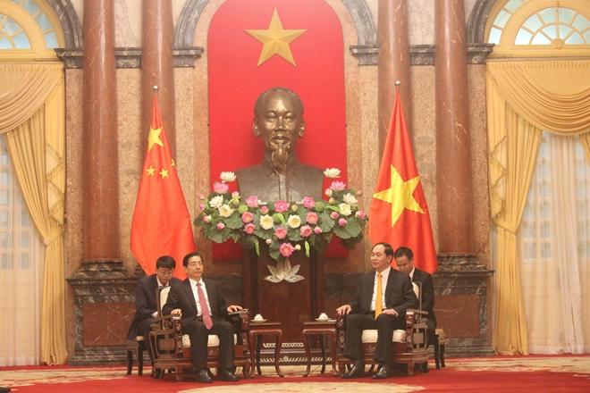 ประธานประเทศ เจิ่นด่ายกวาง ให้การต้อนรับรัฐมนตรีว่าการกระทรวงรักษาความมั่นคงทั่วไปจีน