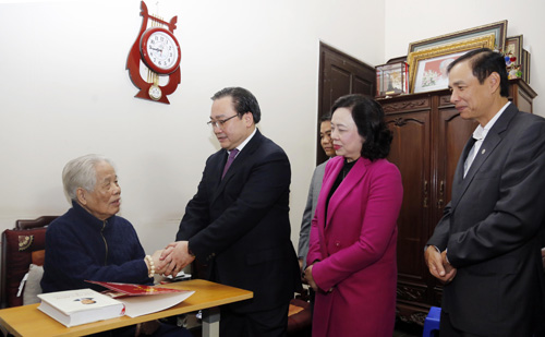 Party and State officials pay Tet visits to former leaders and disadvantaged people