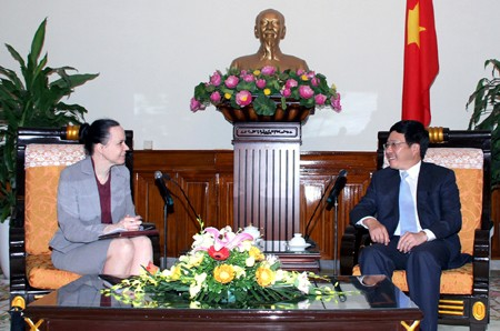 Deputy Prime Minister Pham Binh Minh receives foreign ambassadors