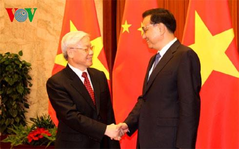 阮富仲会见中国国务院总理李克强