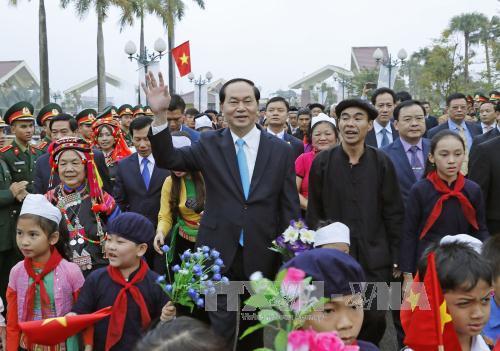 越南国家主席陈大光:继续保护和发扬民族传统文化价值