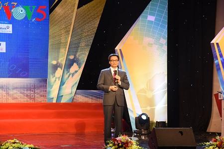 越南政府副总理武德担出席2017年奎星奖颁奖仪式