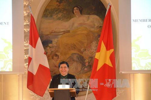 NA Vice Chairwoman joins activities marking 45th anniversary of Vietnam-Switzerland diplomatic ties