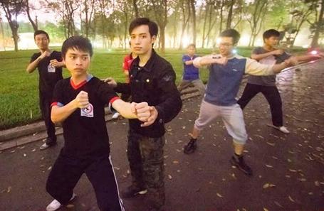 La classe d'arts martiaux de Trinh Van Duc