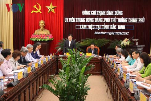 Trinh Dinh Dung en déplacement à Bac Ninh