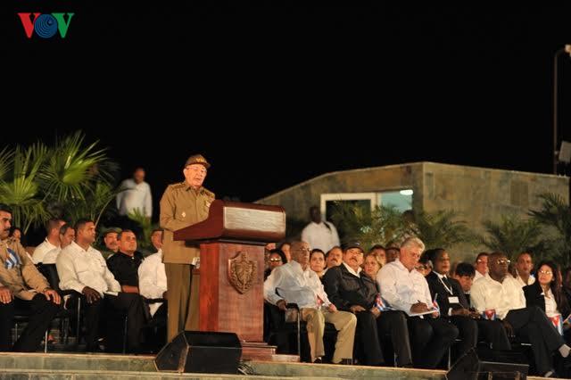 Cérémonie commémorative en l'honneur de Fidel Castro à Santiago de Cuba