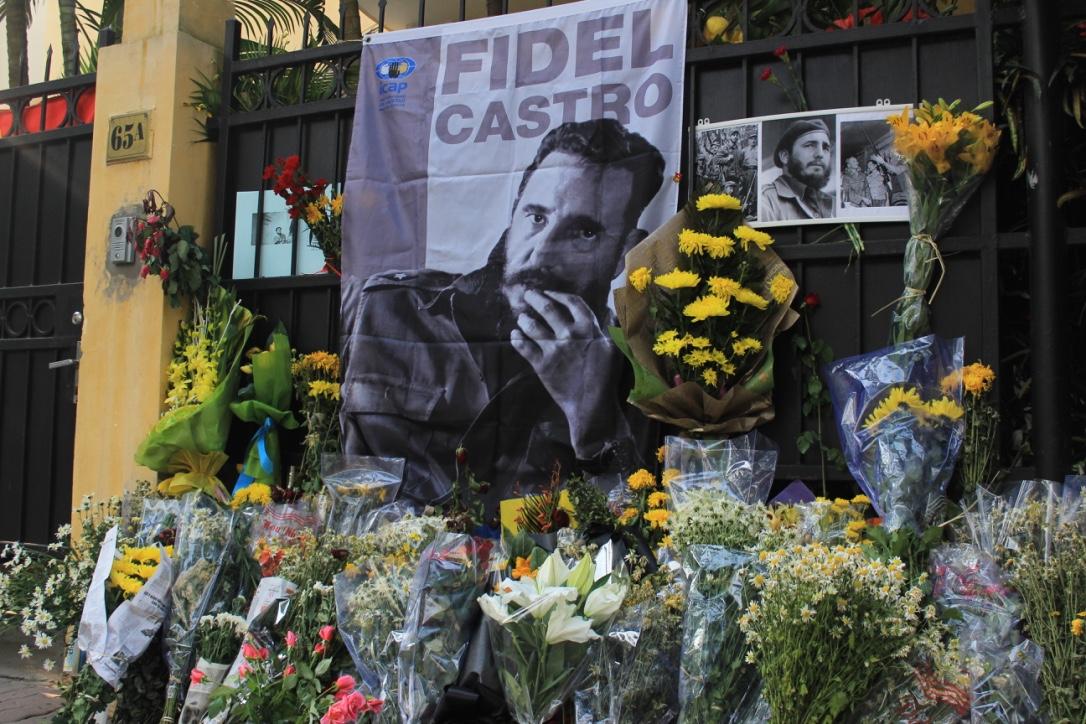 在河内举行的菲德尔·卡斯特罗领袖悼念仪式气氛肃穆