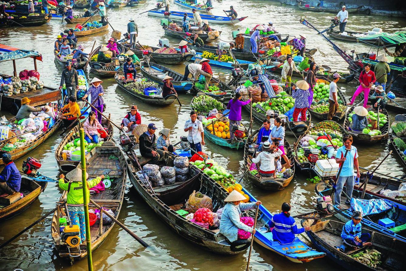 越南集市的色彩