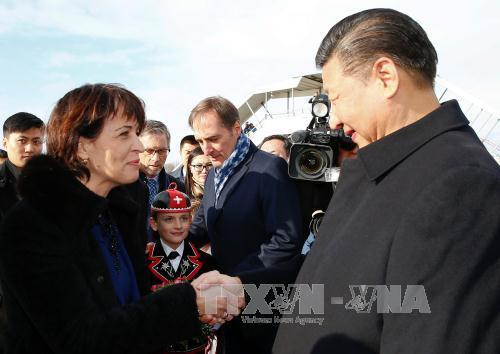 Chinese President visits Switzerland