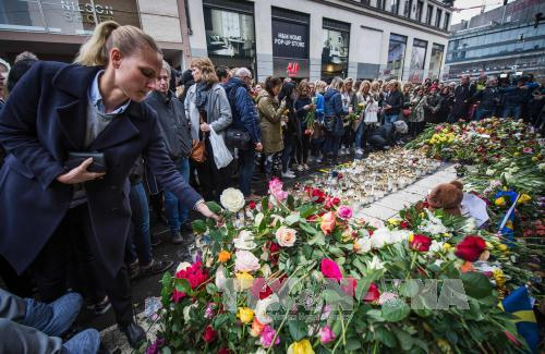 Sweden commemorates Stockholm attack victims
