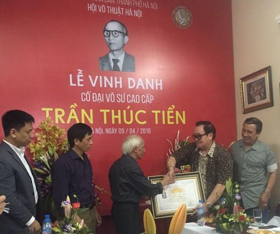 Lễ vinh danh cố đại võ sư Trần Thúc Tiển