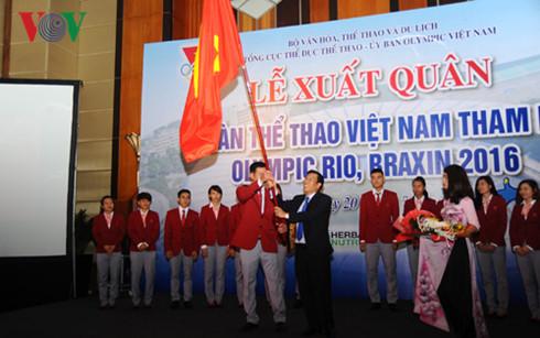 Đoàn Thể thao Việt Nam xuất quân tham dự Olympic Rio 2016