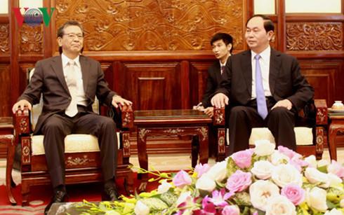 Chủ tịch nước Trần Đại Quang tiếp Đại sứ Nhật Bản chào từ biệt