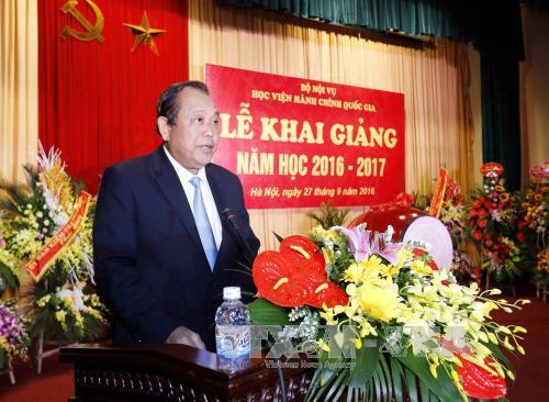 Phó Thủ tướng Trương Hoà Bình dự khai giảng Học viện Hành chính Quốc gia