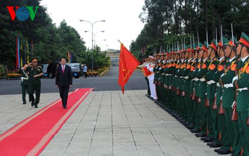 Chủ tịch nước Trần Đại Quang thăm, chúc Tết lực lượng vũ trang Quân khu 9 và tỉnh An Giang