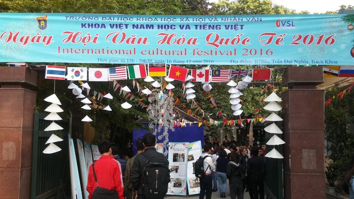 งานวันวัฒนธรรมนานาชาติ – โอกาสให้นักศึกษาต่างชาติในเวียดนามได้แลกเปลี่ยนวัฒนธรรม