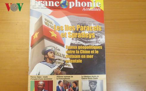 """นิตยสาร""""Francophonie Actualites""""ลงบทความต่างๆเกี่ยวกับปัญหาทะเลตะวันออก"""