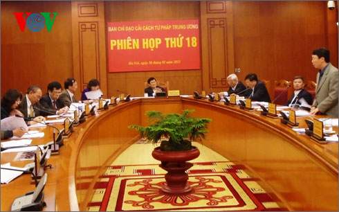 The 18th session of the Central Steering Committee on Judicial Reform opens