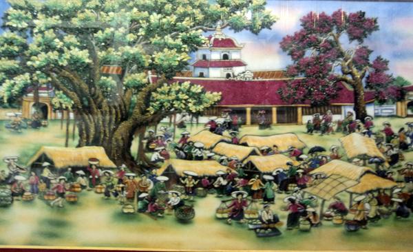Luc Yen natural stone market