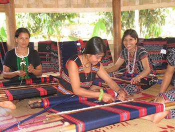 Brocade weaving of ethnic minority group in Central Highlands