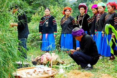 Pu Peo worship of the Forest Genie and forest protection