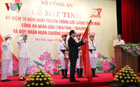 President attends 70th traditional day of People's Police staff force