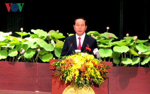 President Tran Dai Quang urges HCM City to further develop