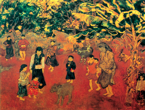 Painter Nguyen Tu Nghiem, a pioneer in combining folklore with contemporary fine art