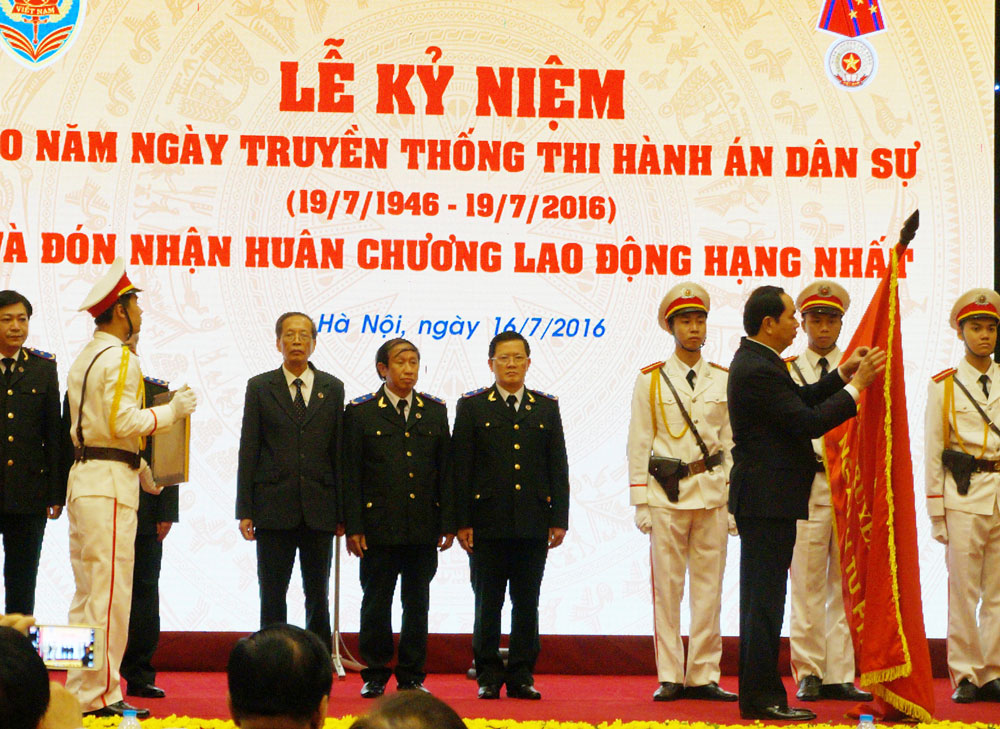 President Tran Dai Quang attends 70th founding anniversary of the Civil Judgment Execution