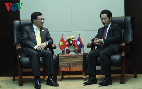 Deputy PM Pham Binh Minh's activities in Laos