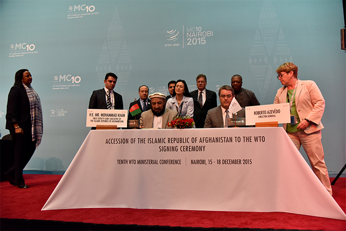 Afghanistan becomes a member of WTO