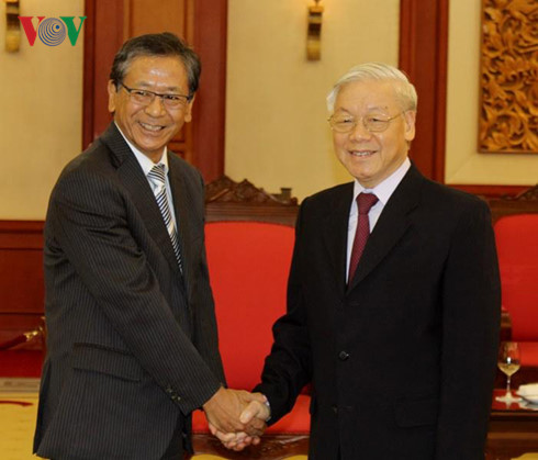 Party General Secretary Nguyen Phu Trong received outgoing Japanese Ambassador
