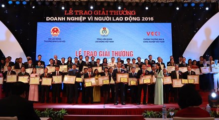 Ceremony to honor businesses for employees 2016