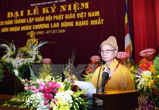 Vietnam Buddhist Sangha celebrates 35th anniversary
