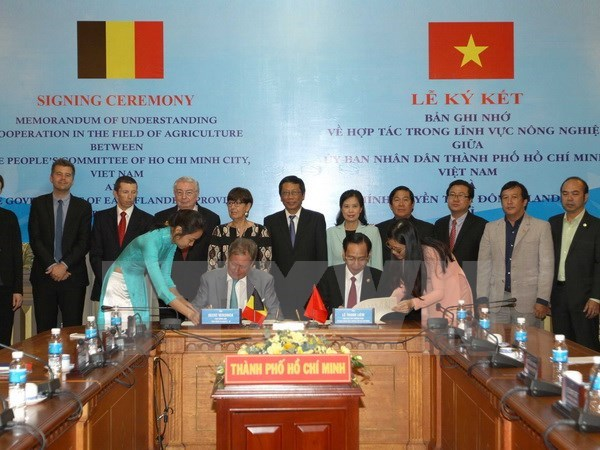 HCM City, Belgian province sign agricultural cooperation