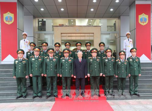 Party chief visits General Department of Military Intelligence