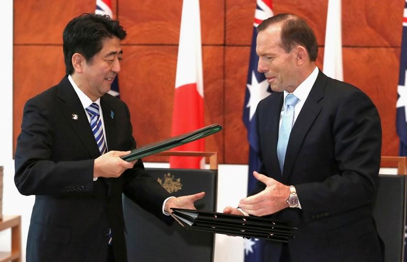 Japanese Prime Minister visits Australia